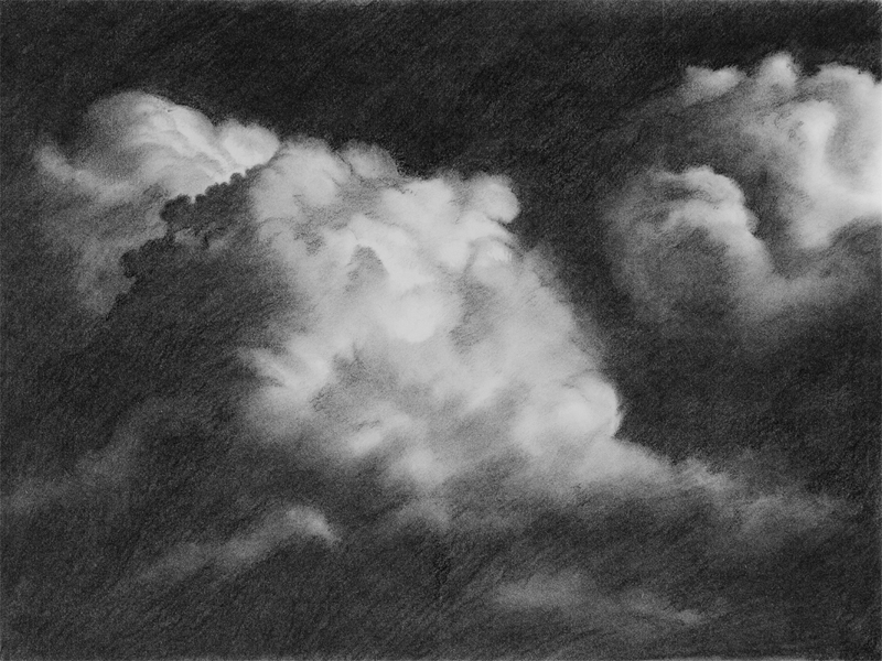 Toby Carr Fine Clouds 1 drawing