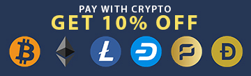 Pay with cryptocurrency and get 10% off